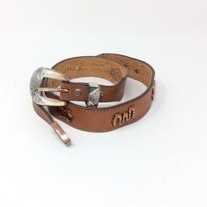 Vintage Silvercreek Leather Belt